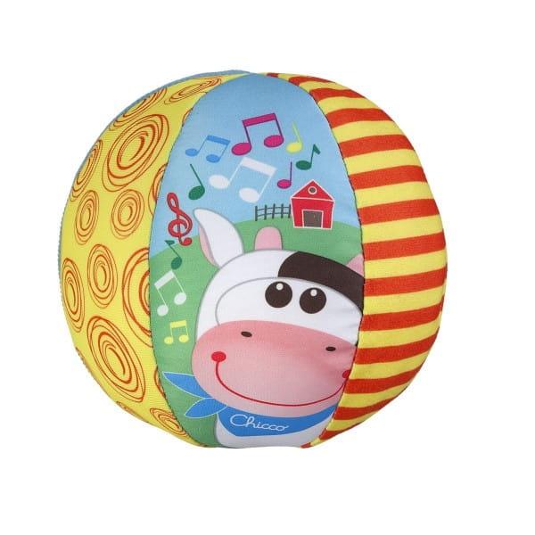Игрушка Chicco Музыкальный мячик с коровкой