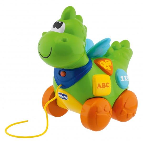 Развивающая игрушка Chicco Говорящий дракон на колесиках (русский/английский)