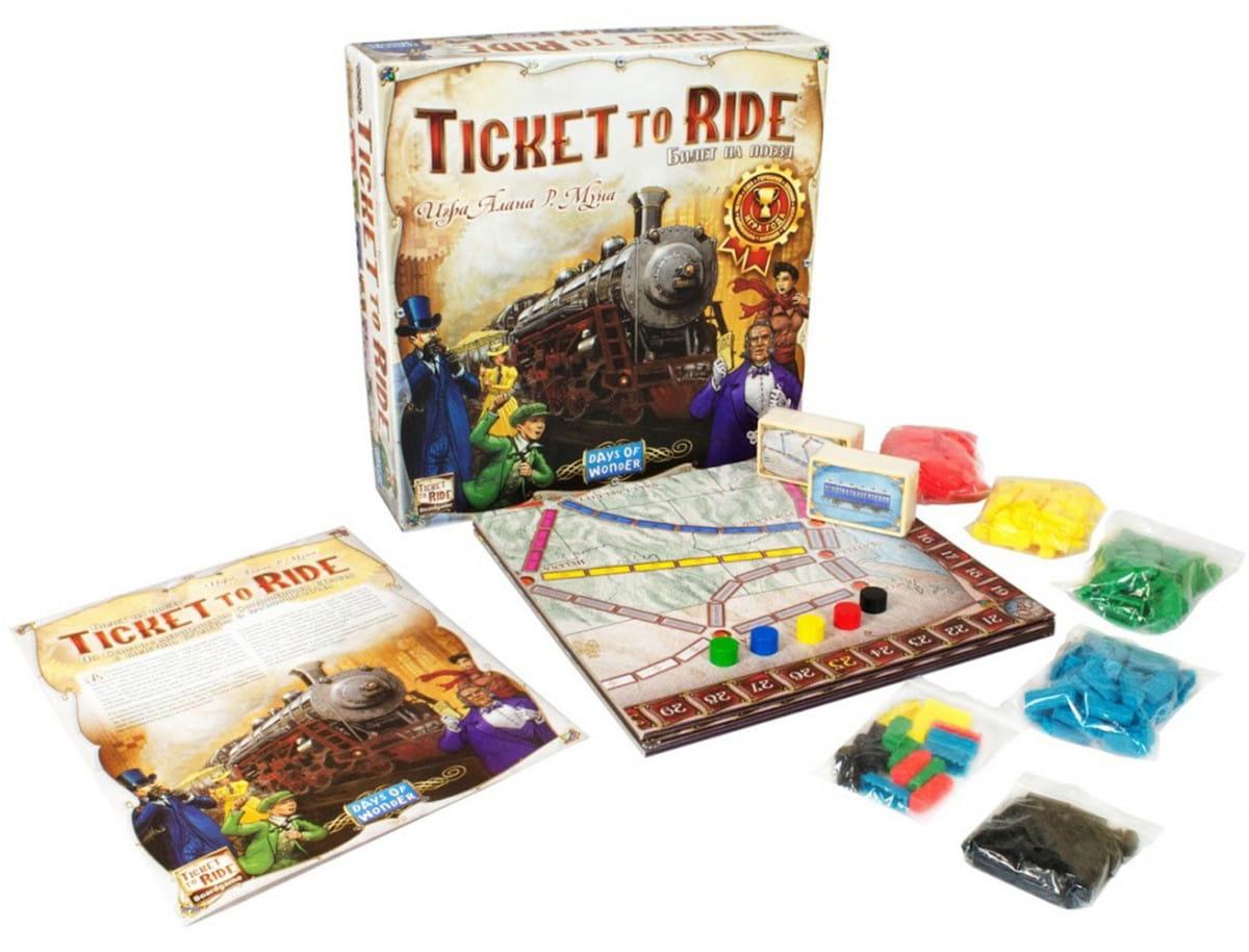 Настольная игра Hobby World 1032 Ticket to Ride - Европа