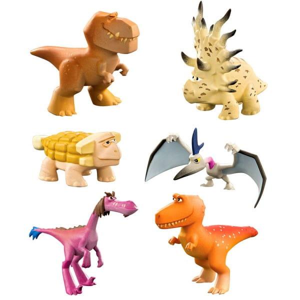 Игровой набор Good Dinosaur 6 фигурок (Анкилозавр, Раптор, Бур, Рамзи, Аконтофиопс, Птеродактиль)
