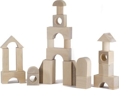 Деревянный конструктор Alatoys Городок неокрашенный - 28 деталей