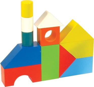 Купить Деревянный конструктор Alatoys Городок окрашенный - 26 деталей в интернет магазине игрушек и детских товаров