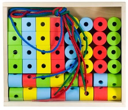 Развивающая игрушка Alatoys Шнуровочка - 40 деталей