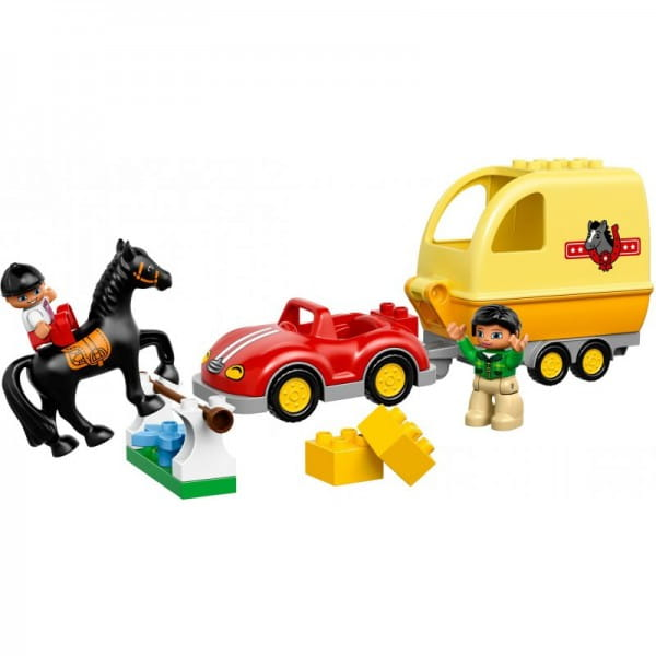 Купить Конструктор Lego Duplo Лего Дупло Трейлер для лошадок в интернет магазине игрушек и детских товаров