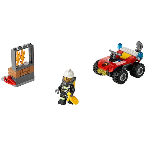 Купить Конструктор Lego City Лего Город Пожарный квадроцикл в интернет магазине игрушек и детских товаров