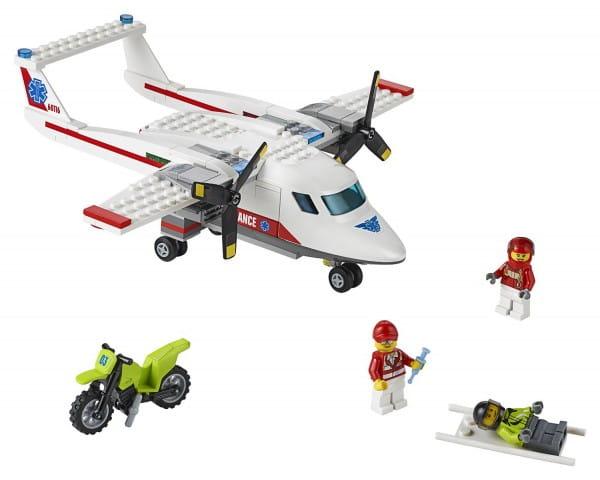 Конструктор Lego City Лего Город Самолет скорой помощи