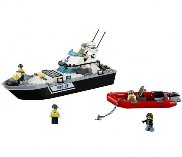 Конструктор Lego City Лего Город Полицейский патрульный катер