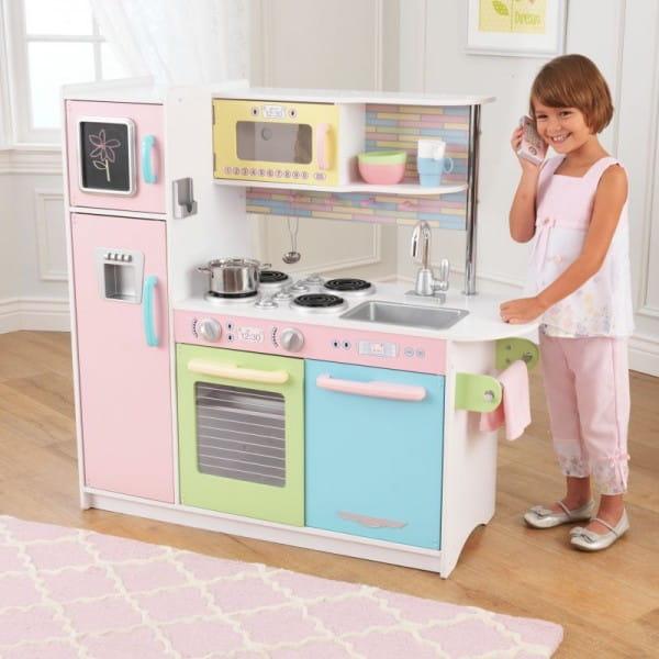 Купить Детская кухня Kidkraft Пастель Pastel (Uptown Espresso Kitchen) в интернет магазине игрушек и детских товаров