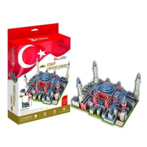 Объемный 3D пазл CubicFun Собор Святой Софии в Турции