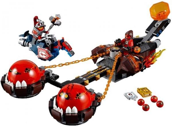 Купить Конструктор Lego Nexo Knights Лего Нексо Безумная колесница Укротителя в интернет магазине игрушек и детских товаров