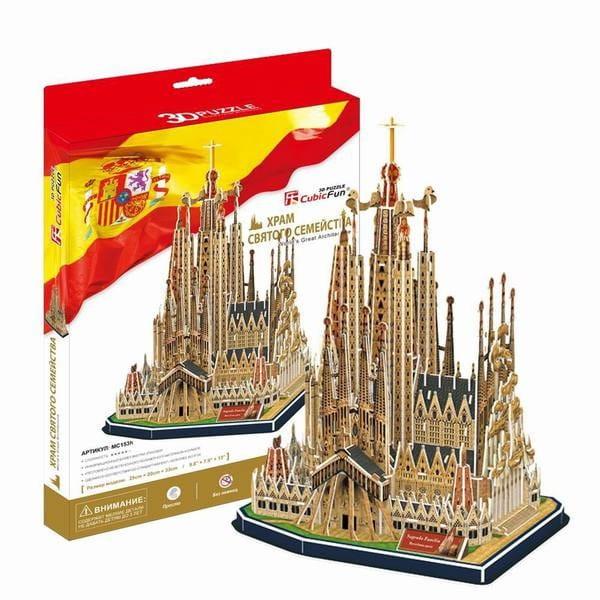 Объемный 3D пазл CubicFun Храм Святого Семейства в Испании