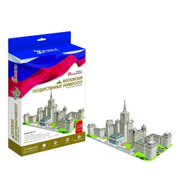 Объемный 3D пазл CubicFun MC161h Московский Государственный Университет