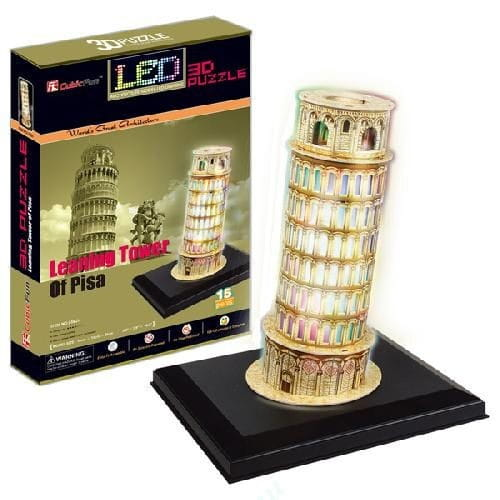 Объемный 3D пазл CubicFun Пизанская башня с иллюминацией (Италия)