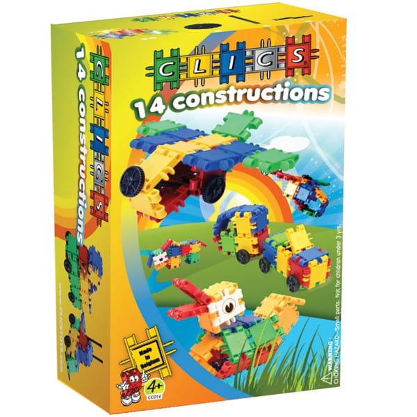Конструктор Clics 14 конструкций - 50 деталей