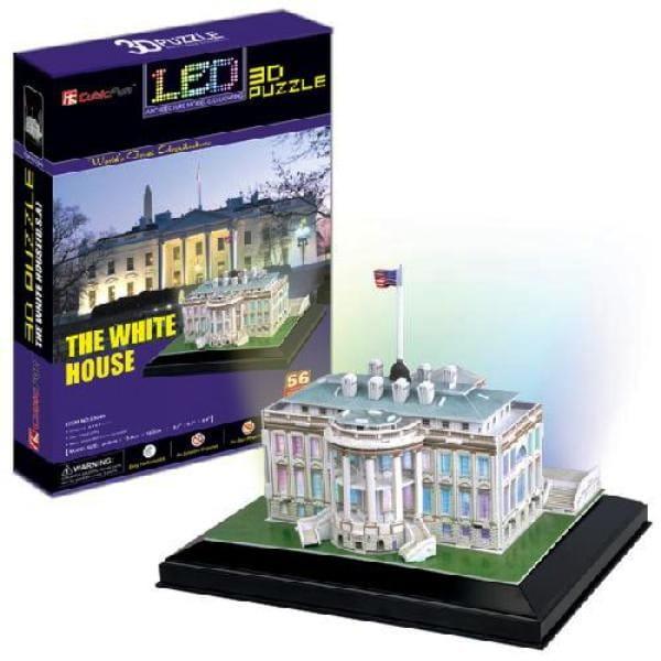 Объемный 3D пазл CubicFun L504h Белый дом с иллюминацией (Вашингтон)