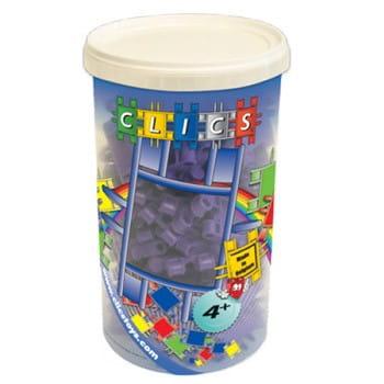 Конструктор Clics Фиолетовый на оси - 65 деталей (в тубусе)