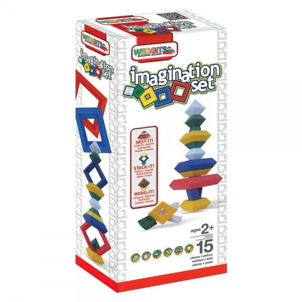 Конструктор Wedgits Imagination set - 15 деталей
