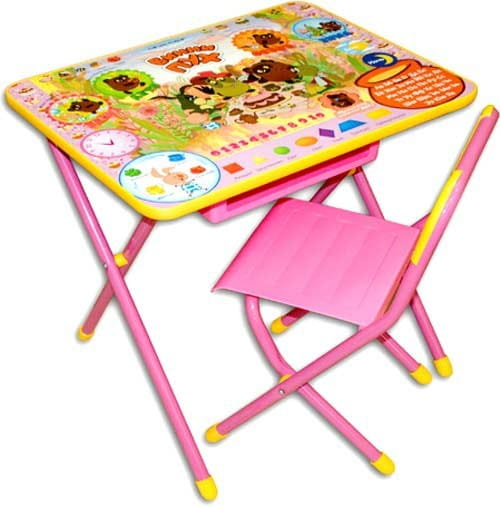 Купить Комплект детской мебели Дэми Винни-Пух (розовый) в интернет магазине игрушек и детских товаров