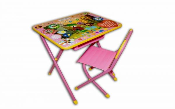 Купить Комплект детской мебели Дэми Чебурашка (розовый) в интернет магазине игрушек и детских товаров
