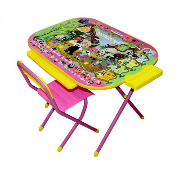 Купить Комплект детской мебели Дэми Чиполлино (розовый) в интернет магазине игрушек и детских товаров
