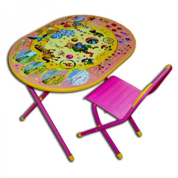 Купить Комплект детской мебели Дэми Цирк (розовый) в интернет магазине игрушек и детских товаров
