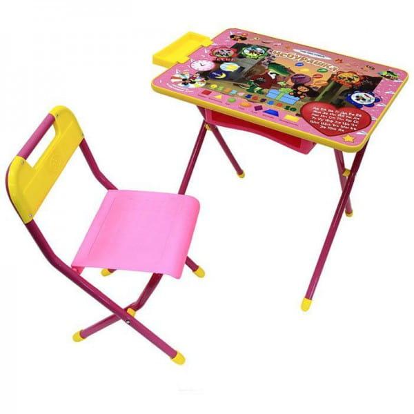 Комплект детской мебели Дэми Чебурашка 2 (розовый)