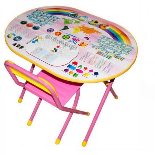 Купить Комплект детской мебели Дэми Блокнот (розовый) в интернет магазине игрушек и детских товаров