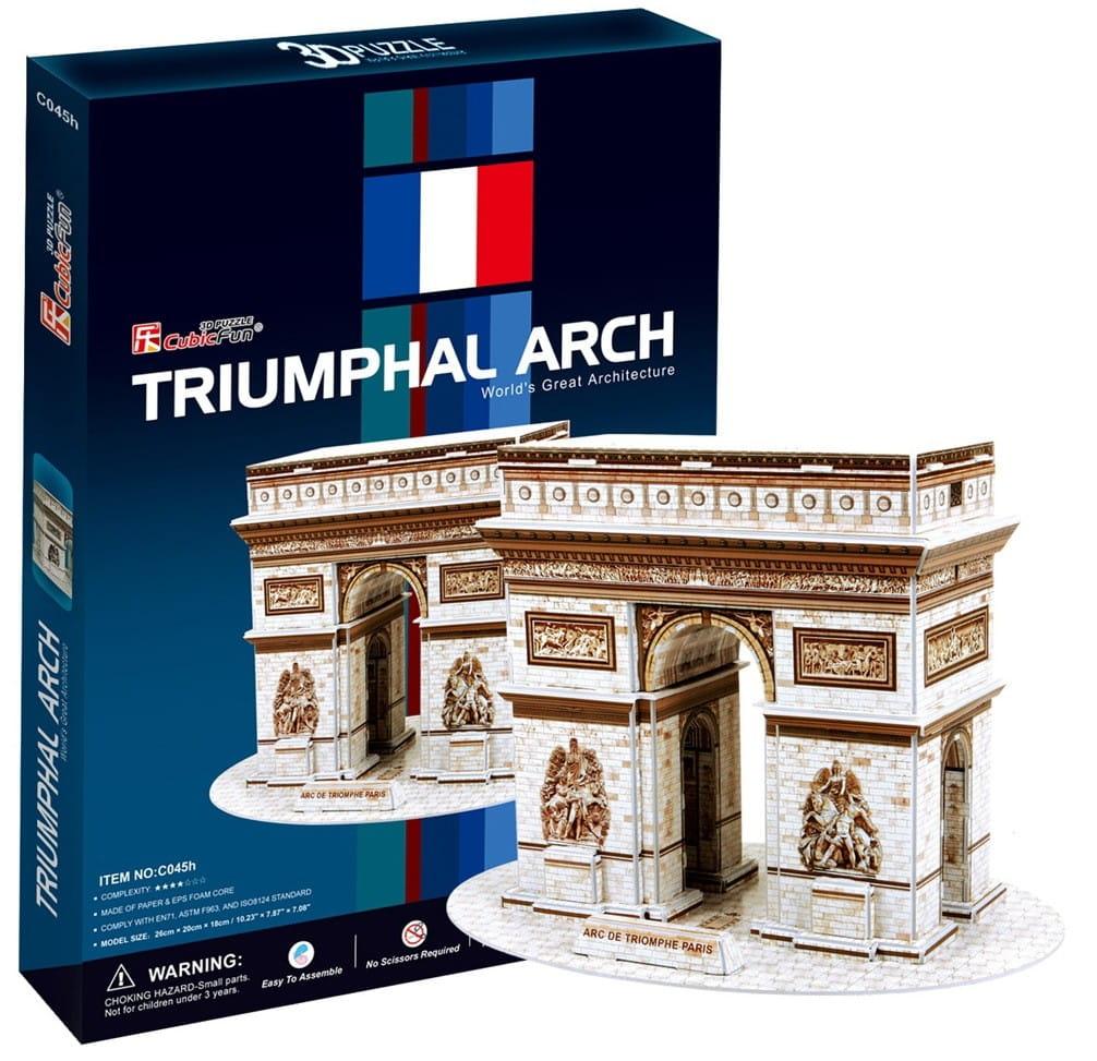 Объемный 3D пазл CubicFun C045h Триумфальная арка в Париже