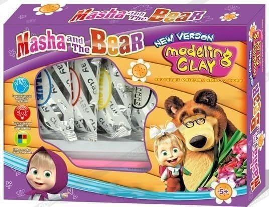 Купить Большой набор пластилина Bonnie Маша и медведь в интернет магазине игрушек и детских товаров