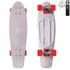 Скейтборд Y-Scoo Fishskateboard 27 дюймов - Grey-red